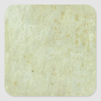 Retro Green Grunge Pattern Square Sticker