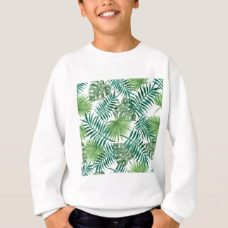 Retro Green Palm Leaves Style Pattern Design Sweatshirt