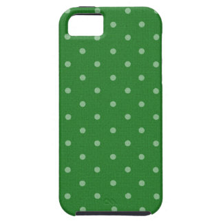 retro green polka dot iPhone 5 case