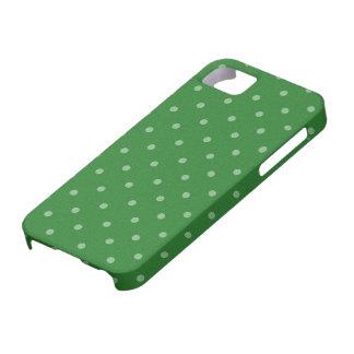 retro green polka dot iPhone 5 cases
