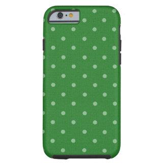 retro green polka dot tough iPhone 6 case