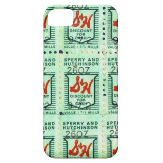 Retro Green Stamps Background iPhone 5 Cases