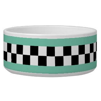 retro green striped checkers