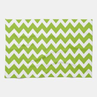 Retro GREEN Zig Zag Pattern Kitchen Towels