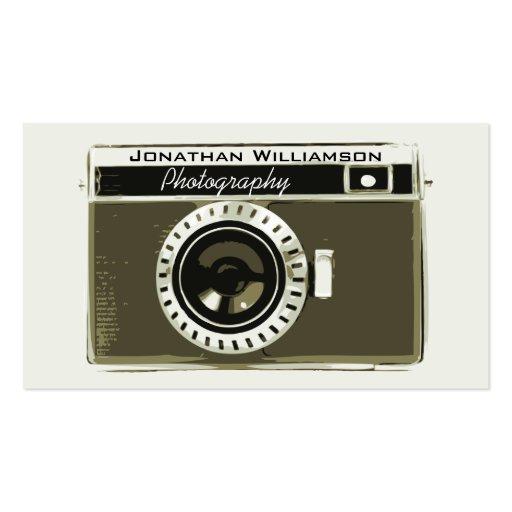 Retro Grey Camera Photography Business Cards Business Card