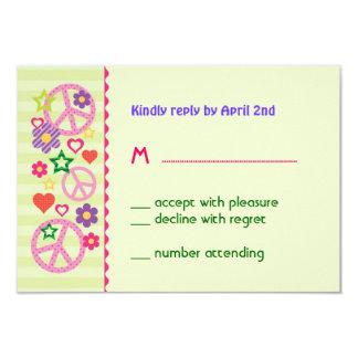 Retro Groovy RSVP Card