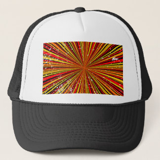 Retro Grunge Background Trucker Hat