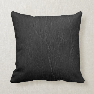 Retro Grunge Black Leather Custom Cushion