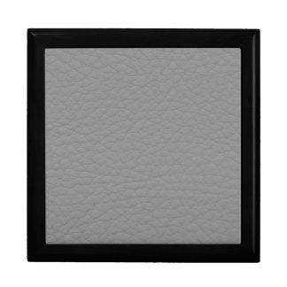 Retro Grunge Gray Leather Custom Trinket Box