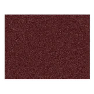 Retro Grunge Maroon Leather Texture Postcard