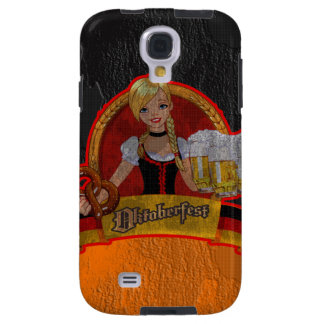 Retro Grunge Oktoberfest Waitres Girl Samsung  S4 Galaxy S4 Case