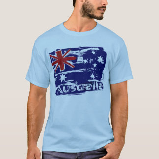 Retro grunge painted Australia flag T-Shirt