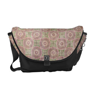 Retro Grunge Pink Circles Pattern Courier Bags