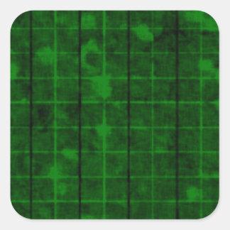 Retro Grunge Plaid Square Sticker