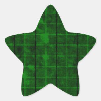 Retro Grunge Plaid Star Sticker