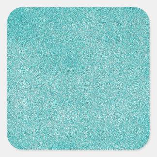 Retro Grunge Sandpaper Texture Square Sticker
