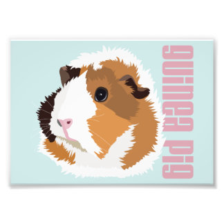 Retro Guinea Pig 'Elsie' Print (Frames Available!) Photo