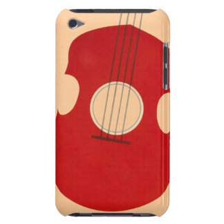 Retro Guitar Graphic Red Musical Instrument Design Barely There iPod Cover
