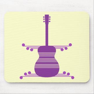 Retro Guitar Mousepad, Purple Mouse Pad