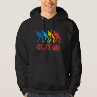 Retro Guitar Pop Art Hoodie