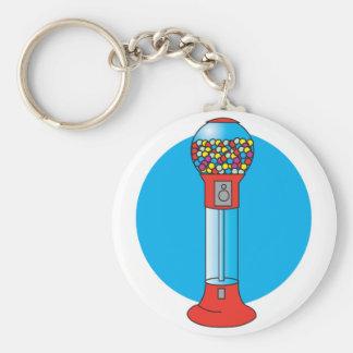 retro gumball machine basic round button key ring