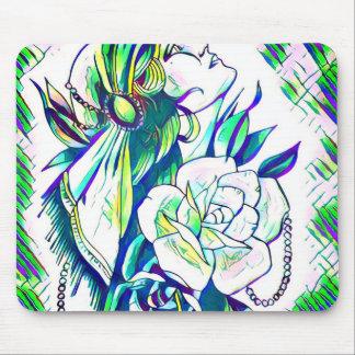 retro gypsy rose mouse pad