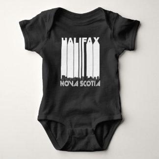 Retro Halifax Nova Scotia Canada Skyline Baby Bodysuit