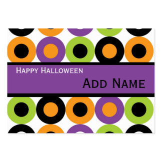 Retro Halloween Gift Tags Business Cards