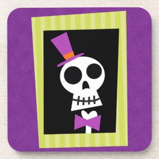 Retro Halloween Party Coasters