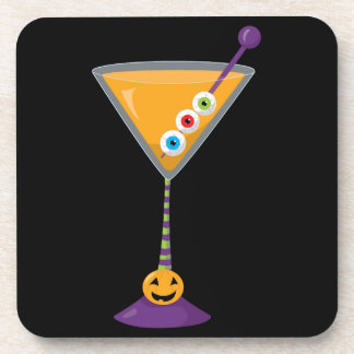 Retro Halloween Party Goblet Coasters