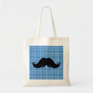Retro Handlebar Mustache Moustache Tote Bags