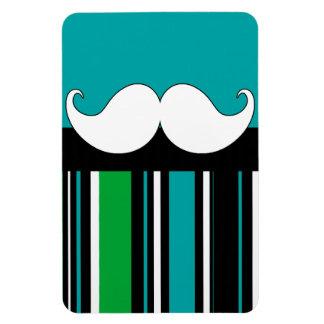 Retro Handlebar Mustache Moustache Stripes Vinyl Magnet