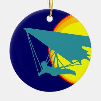 retro hang glider ceramic ornament