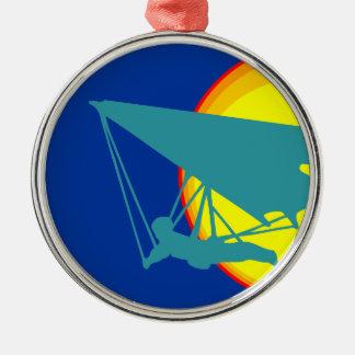 retro hang glider metal ornament