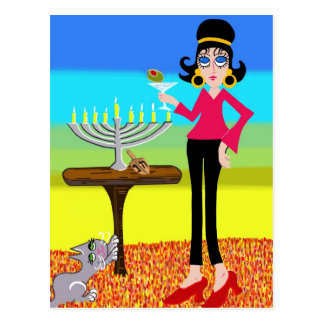 Retro Hanukkah and a Martini Post Cards