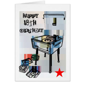 Retro Happy 18th Birthday Card