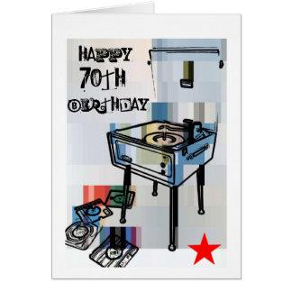 Retro Happy 70th Birthday Card