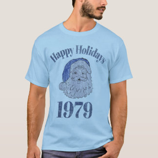 Retro Happy Holidays Santa 1979 T-Shirt