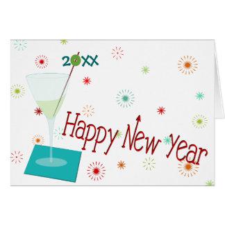 Retro Happy New Year Card