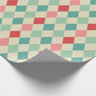 Retro Harlequin Geometric Pattern Wrapping Paper
