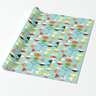 Retro Harlequin Pattern Wrapping Paper
