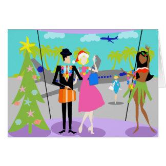 Retro Hawaiian Christmas Card