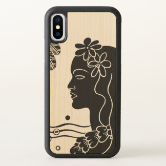 Retro Hawaiian Hula Girl iPhone X Case