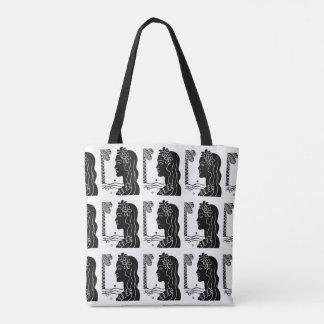 Retro Hawaiian Hula Girl Tote Bag