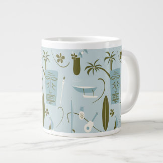 Retro Hawaiian Mug - Vintage Hawaiian - Blue