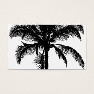 Retro Hawaiian Tropical Palm Tree Silhouette Black