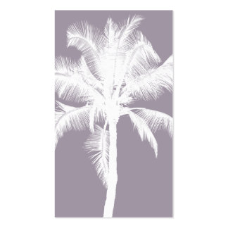Retro Hawaiian Tropical Palm Tree Vintage Purple Pack Of Standard Business Cards