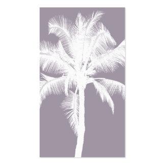 Retro Hawaiian Tropical Palm Tree Vintage Purple Pack Of Standard Business Cards