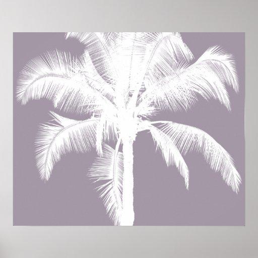 Retro Hawaiian Tropical Palm Tree Vintage Purple Posters