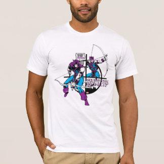 Retro Hawkeye Crosshair Graphic T-Shirt
